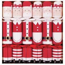 Mr. & Mrs. Claus Racing Reindeer Cracker Set