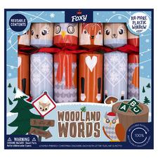 6 Piece Woodland Words Christmas Cracker Set