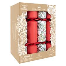 12 Piece Christmas Sprigs Cracker Set