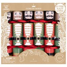 6 Piece Nutcracker Christmas Cracker Set