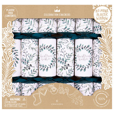 6 Piece Botanical Leaves Christmas Cracker Set