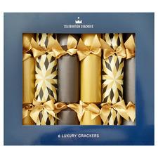 6 Piece Harlequin Explosion Christmas Cracker Set