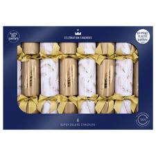 8 Piece Golden Feather Christmas Cracker Set