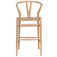 Natural Wishbone Replica Beech Barstool