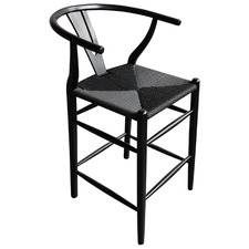 65cm Wishbone Replica Black Cord Counter Stool