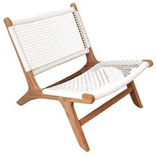 Zenya Teak & PE Wicker Outdoor Accent Chair