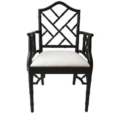 Chippendale Linear Back Wooden Armchair