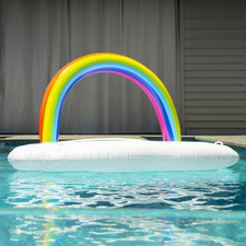 Giant Lazy Dayz Rainbow Float