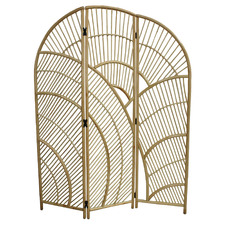 Natural Zefina 3 Panel Rattan Room Divider