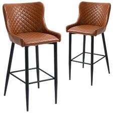 74cm Tiber Faux Leather Barstools (Set of 2)