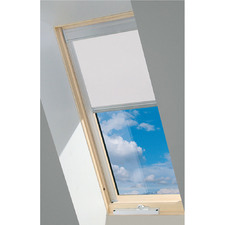 White Fakro Electric Blackout Blind for Venting Skylight