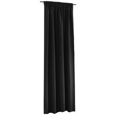 Black Alyssa Pencil Pleat Blockout Curtains (Set of 2)