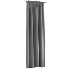 Silver Alyssa Pencil Pleat Blockout Curtains (Set of 2)