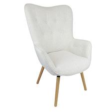 White Nara Upholstered Armchair