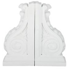 2 Piece White Corbel Bookend Set