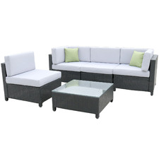 4 Seater Braden PE Rattan Outdoor Sectional Sofa Set