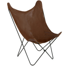 Alastair Faux Leather Butterfly Chair