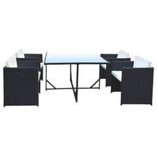 4 Seater Arcon PE Rattan Outdoor Dining Set