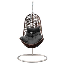 Premium Arcon Curved PE Rattan Outdoor Hanging Egg Chair