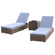 2 Seater Arcon PE Rattan Sun Lounge Set