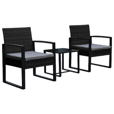 Arcon PE Rattan Outdoor 2 Person Lounge Set