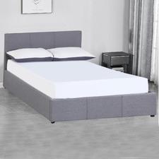 Grey Milano Luxury Gas Lift Storage Bed