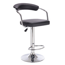 Olympus Faux Leather Adjustable Barstool