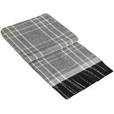 Checkered Kensington Merino Wool & Cashmere Throw Rug
