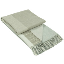2 Tone Kensington Merino Wool & Cashmere Throw Rug