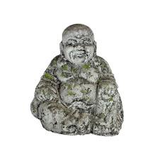 Antique Moss Happy Buddha High Fire Clay Garden Statue