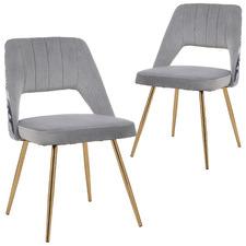Lapkus Velvet Dining Chairs (Set of 2)