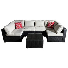 6 Seater Quinn Rattan Outdoor Sectional Lounge Set