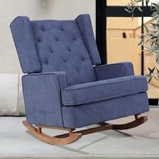 Latoya Rocking Armchair with Conversion Legs