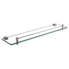 Gale Stainless Steel & Glass Bathroom Shelf