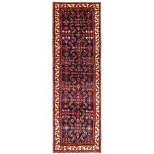 405 x 110cm Persian Hand-Knotted Wool Hamadan Rug