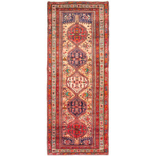 347 x 120cm Persian Hand-Knotted Wool Ardabil Rug
