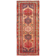 324 x 124cm Persian Hand-Knotted Wool Ardabil Rug
