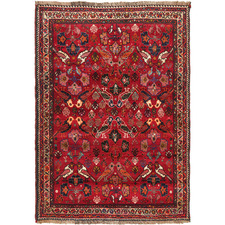 163 x 115cm Hand-Knotted Wool Shiraz Rug