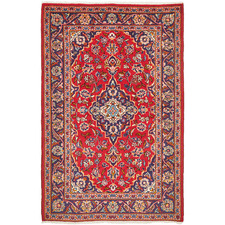 170 x 110cm Persian Hand-Knotted Wool Kashan Rug