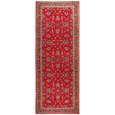 295 x 97cm Persian Hand-Knotted Wool Kashan Runner