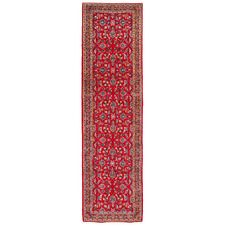 394 x 97cm Persian Hand-Knotted Wool Kashan Runner
