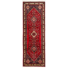 307 x 90cm Persian Hand-Knotted Wool Abadeh Runner