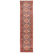 382 x 80cm Persian Hand-Knotted Wool Rudbar Runner