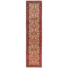 413 x 80cm Persian Hand-Knotted Wool Rudbar Runner