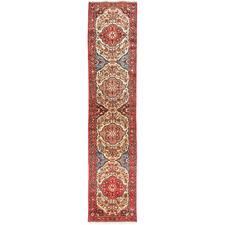 410 x 79cm Persian Hand-Knotted Wool Rudbar Runner