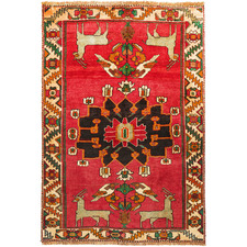 175 x 115cm Persian Hand-Knotted Wool Shiraz Rug