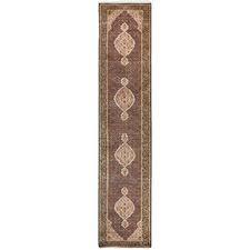 442 x 79cm Persian Hand-Knotted Wool Mahi Runner