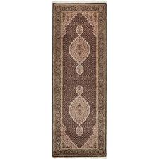254 x 80cm Persian Hand-Knotted Wool Mahi Runner