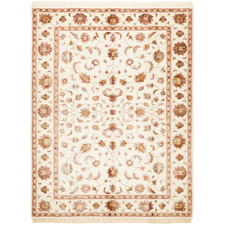 168 x 120cm Indian Hand-Knotted Wool & Silk Narayan Rug