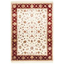 170 x 117cm Hand-Knotted Wool & Silk Narayan Rug